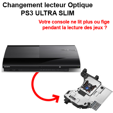 R paration optique ps3 lecteur ultra slim sat elite - Ma ps3 ultra slim ne lit plus les jeux ...