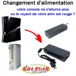 Réparation Xbox Changement alimentation Xbox 360
