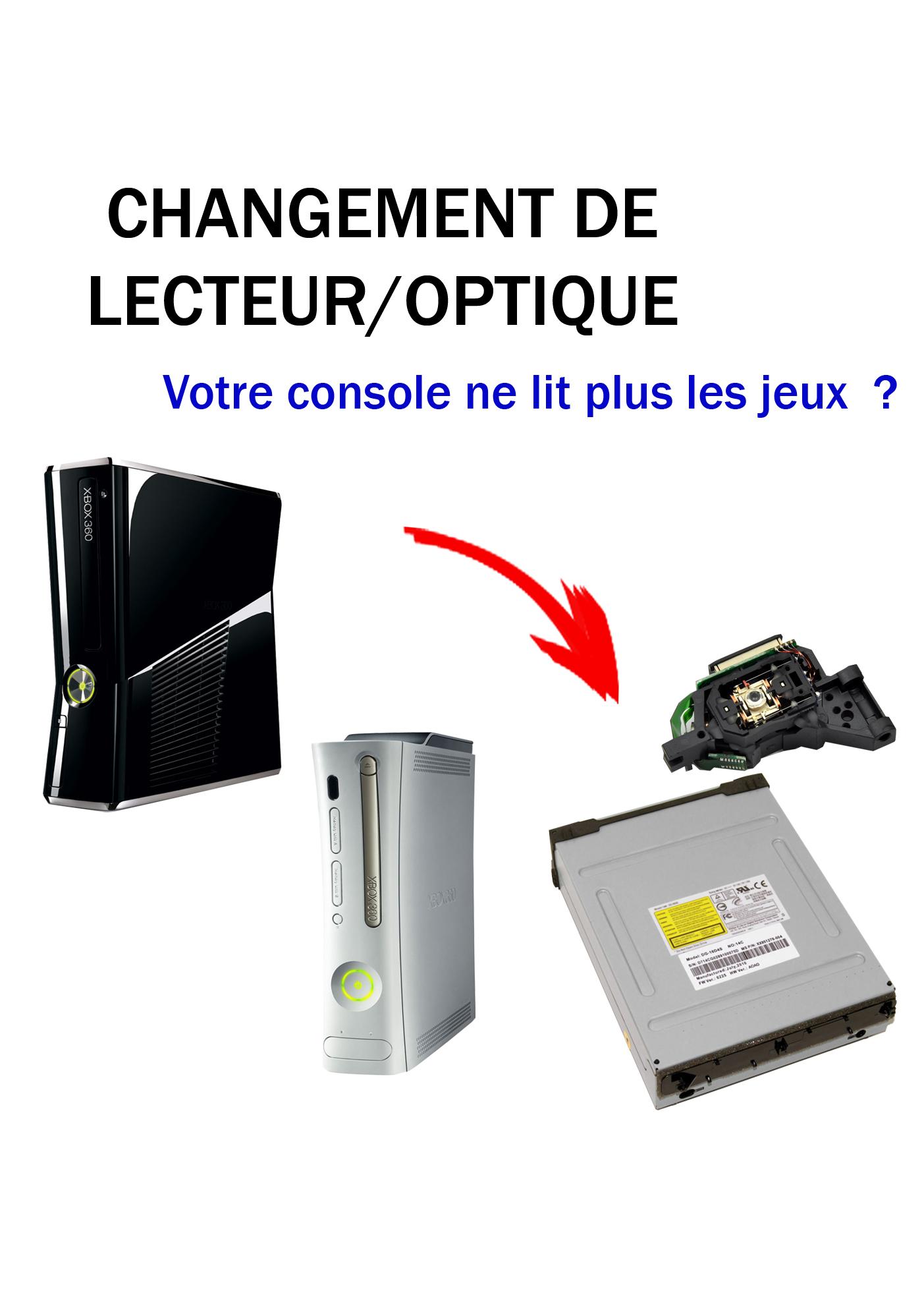 R paration xbox 360 optique lecteur sat elite video - Ma playstation 3 ne lit plus les jeux ...