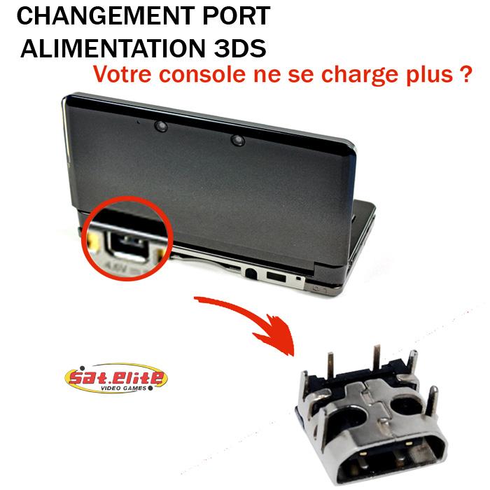 Réparation 3DS Changement port alimentation