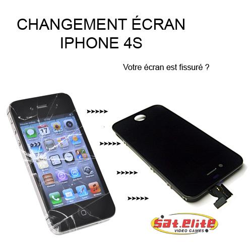 reparation ecran iphone 4s sat elite video games paris jeux video. Black Bedroom Furniture Sets. Home Design Ideas