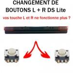 Réparation DS Lite bouton L R
