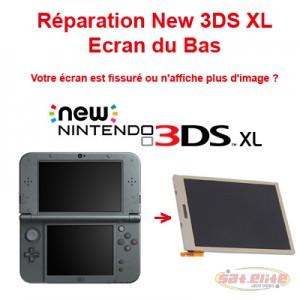 Reparation New 3DS XL changement ecran bas
